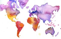 watercolorcontinents