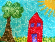 kids pointillism